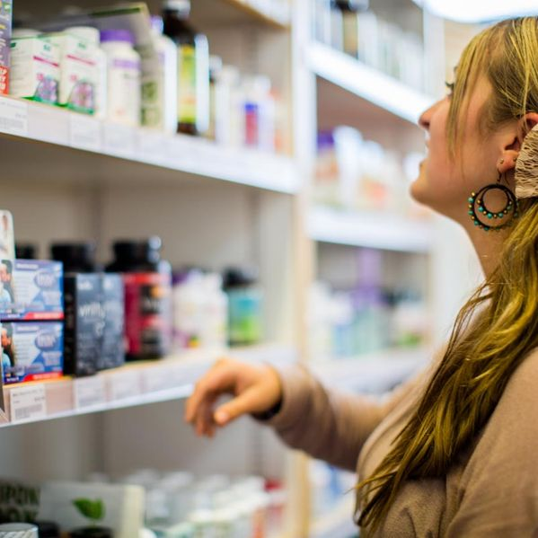 Customer shopping for health products
