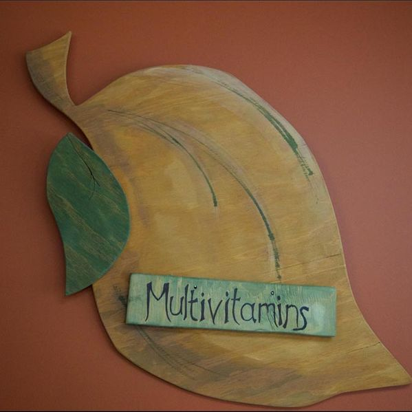 Multivitamins sign
