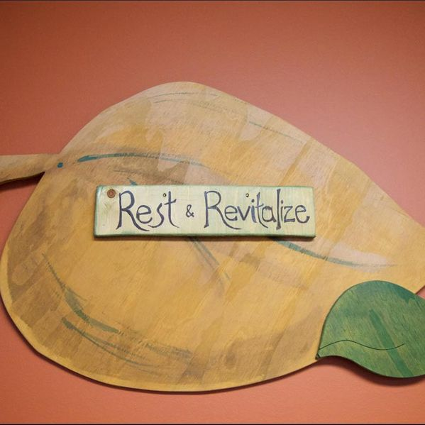 Rest & Revitalize sign